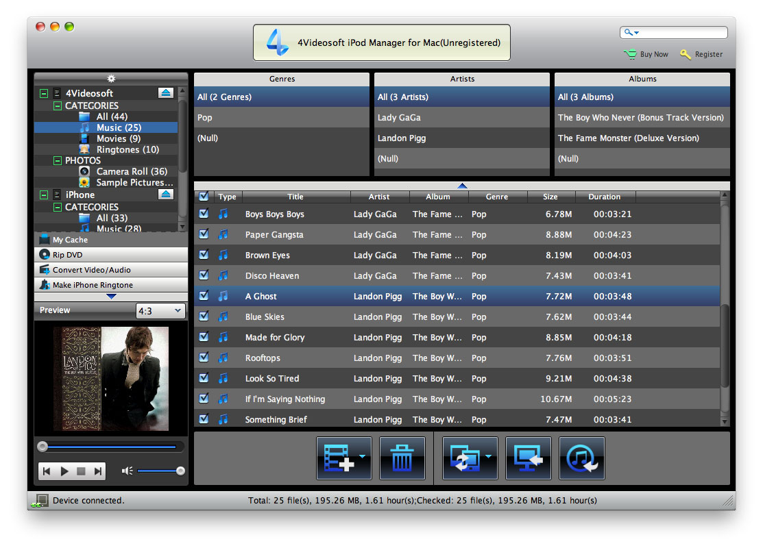 4Videosoft iPod Manager for Mac