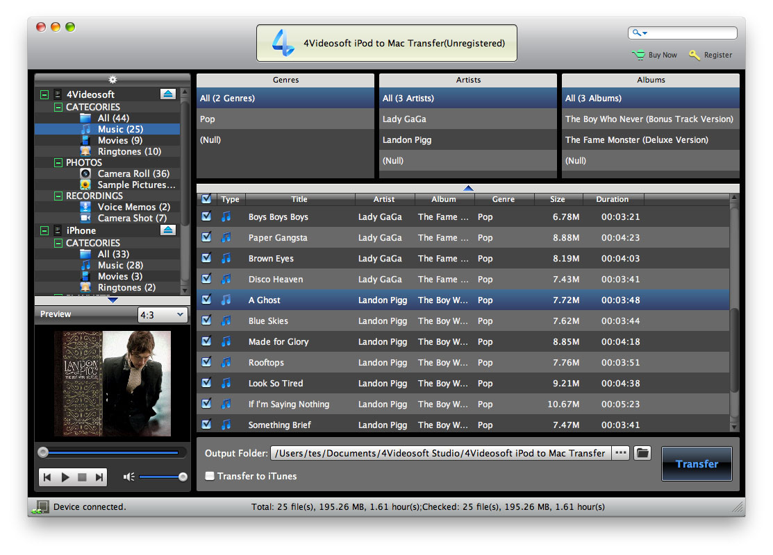 iPod to Mac Transfer, iPod to Mac, transfer iPod files to Mac, transfer iPod Mac